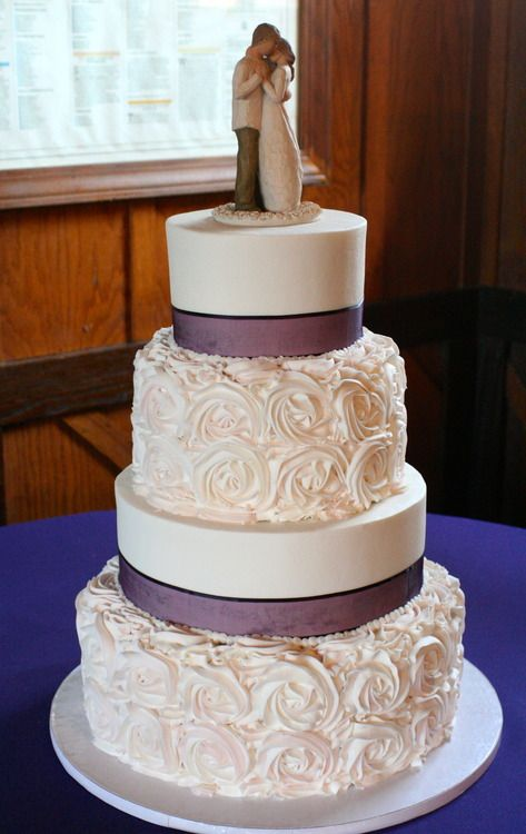 Like the rose design...hesitant on the ribbon, maybe something different to incorporate the plum color