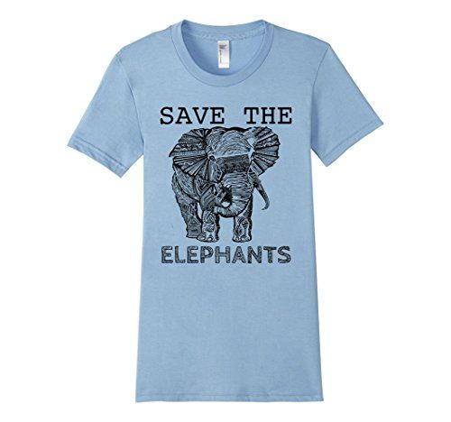Women's Elephant shirt- Save the Elephants shirt Small Ba…