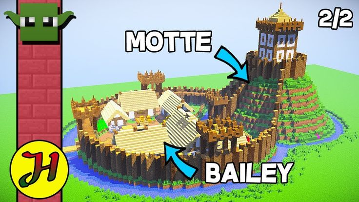 Minecraft Tutorial  Motte  U0026 Bailey Castle  Survival Village   2