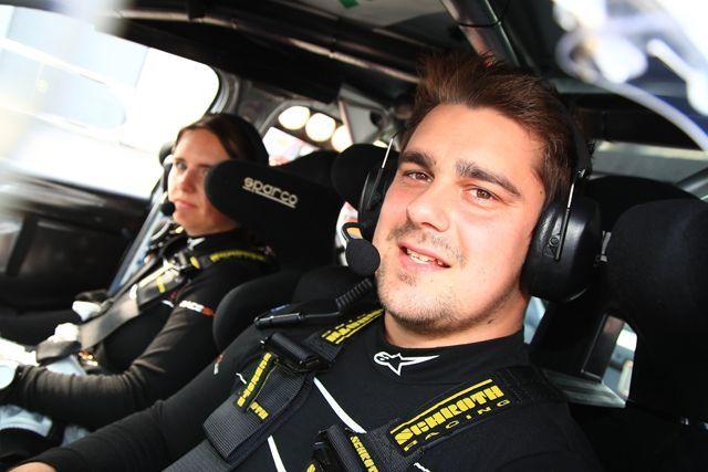 Dinkel Dominik im Skoda Fabia R5 bei der deutschen Rallyemeisterschaft mit dem Baumschlager Team