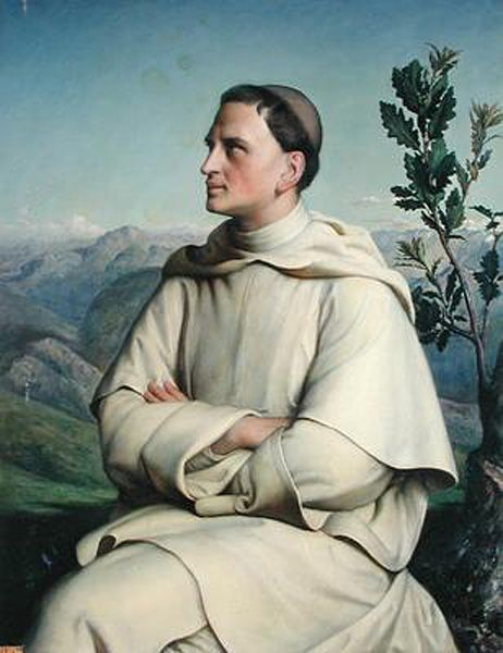 Henri Lacordaire at Sorreze by Anne-Francois-Louis Janmot (Anne Francois Louis Janmot), Oil on canvas