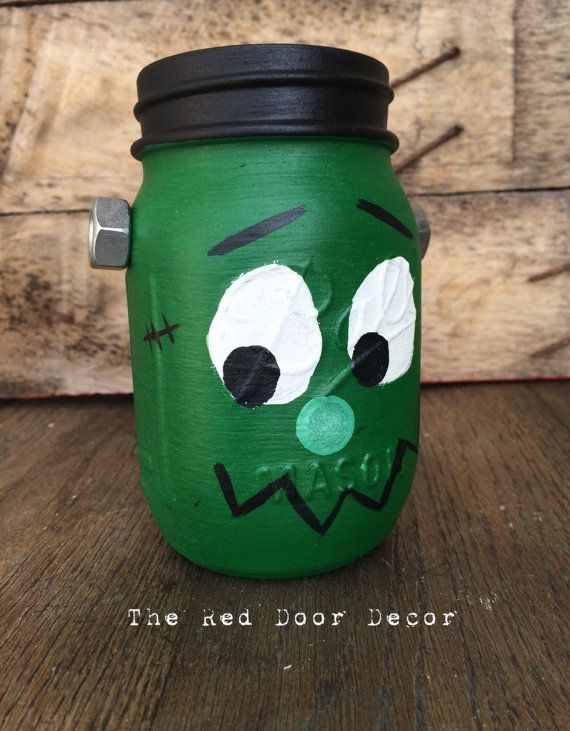 frankenstein mason jar craft 43 best images about my etsy on wall 4503