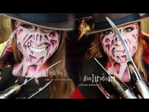 Freddy Krueger Makeup Tutorial (NO LATEX, NO MESS! http://www.youtube.com/watch?v=CL4pK4rNkJU <---
