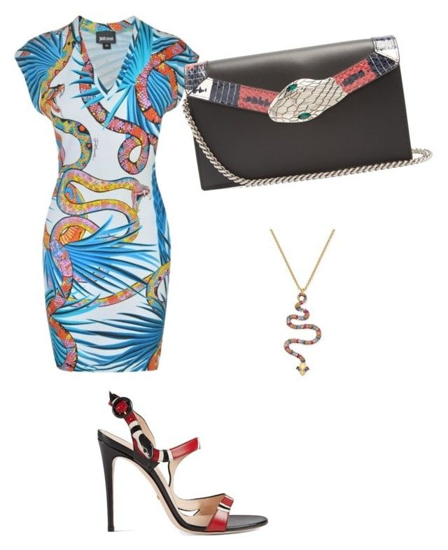 """""""Untitled #76"""" by varga-debora-beatriz on Polyvore featuring Kate Spade, Just Cavalli and Gucci"""