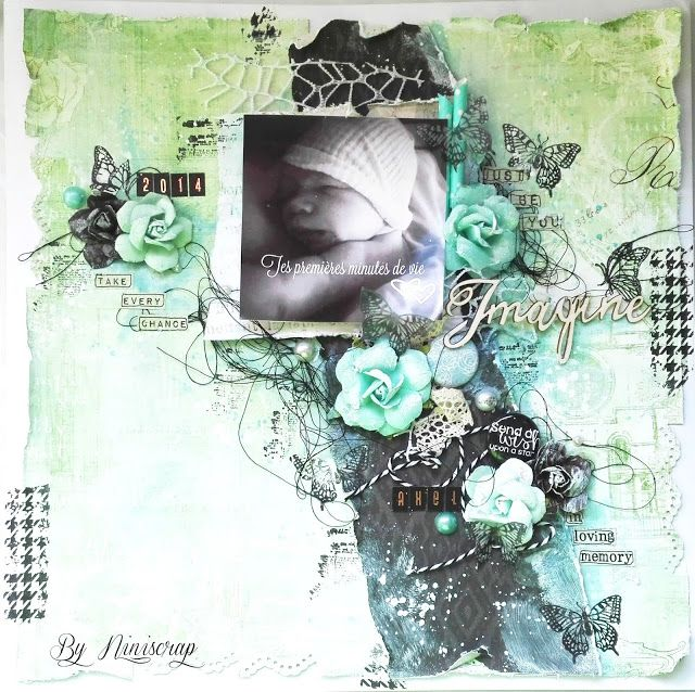 """Accent Scrapbooking: Page """" Imagine """" by Niniscrap"""