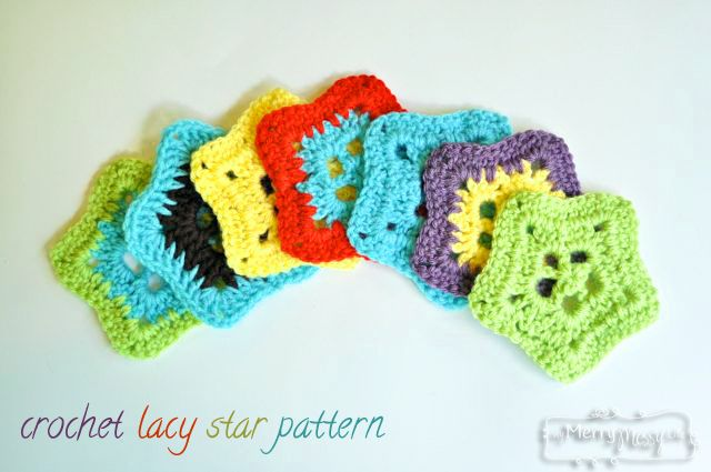 Free Pattern for a Crochet Lacy Star via My Merry Messy Life