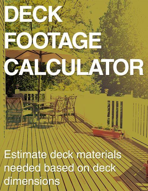 Deck Footage Calculator