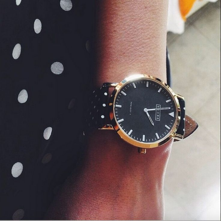 Shore Projects polka dot strap watch.
