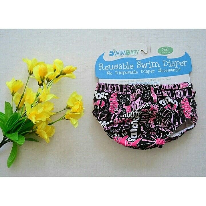 Reusable Swim Diaper Pink Splash Brand : My Swim Baby ~ Rp. 125.000 ~ Ukuran : 2X (12 - 16 kg) || 3X (15,2 - 18 kg)