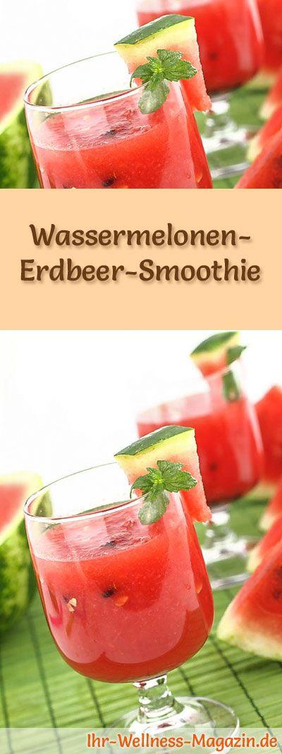 Wassermelonen-Erdbeer-Smoothie – Gesundes Diät-Rezept zum Abnehmen