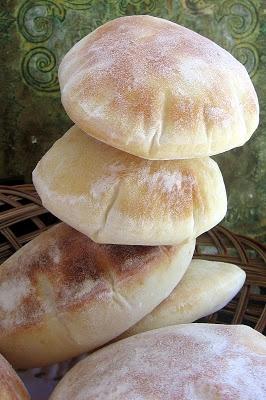 Under the High Chair: DIY: Pita Bread  30 minute rising time  Yeast, water, salt, flour