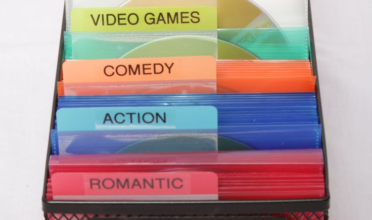 Check out this New solution for DVD collection that's functional (and space-saving), categorized, color-coded, and visual! #HomeLife