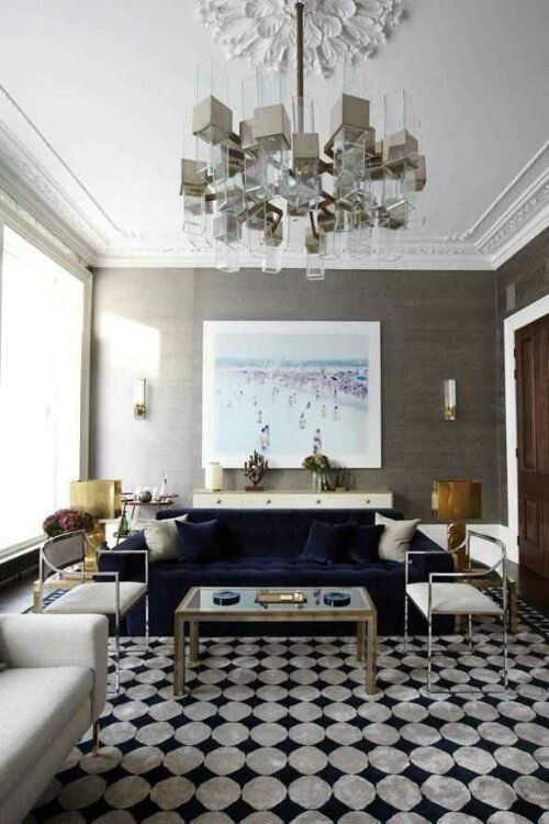 Grey grasscloth   navy sofa395 best Living Room Fun images on Pinterest   Home  Projects and  . Navy Sofa Living Room. Home Design Ideas