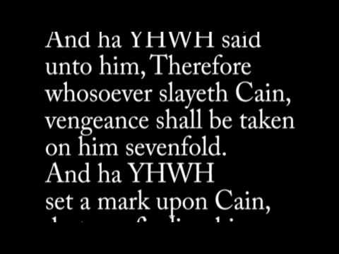 Understanding the MARK of CAIN: A Hebrew Reason