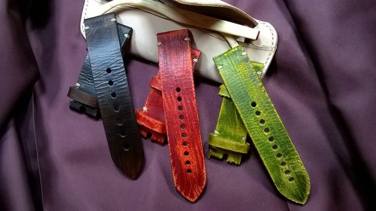 Panerai Strap-vegetable-tanned leather-handmade in Italy