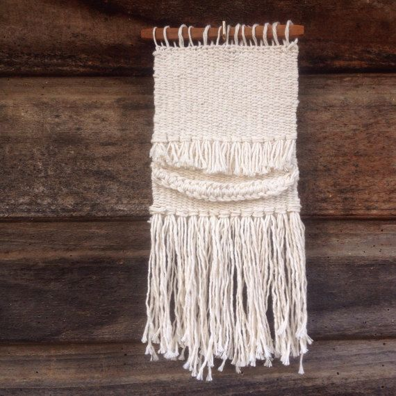 Cotton Wall Hanging by handspunandweaving on Etsy