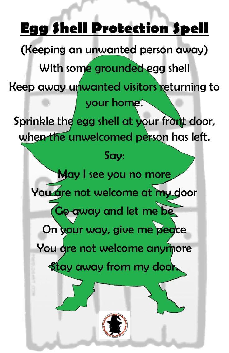 Egg shell protection spell.