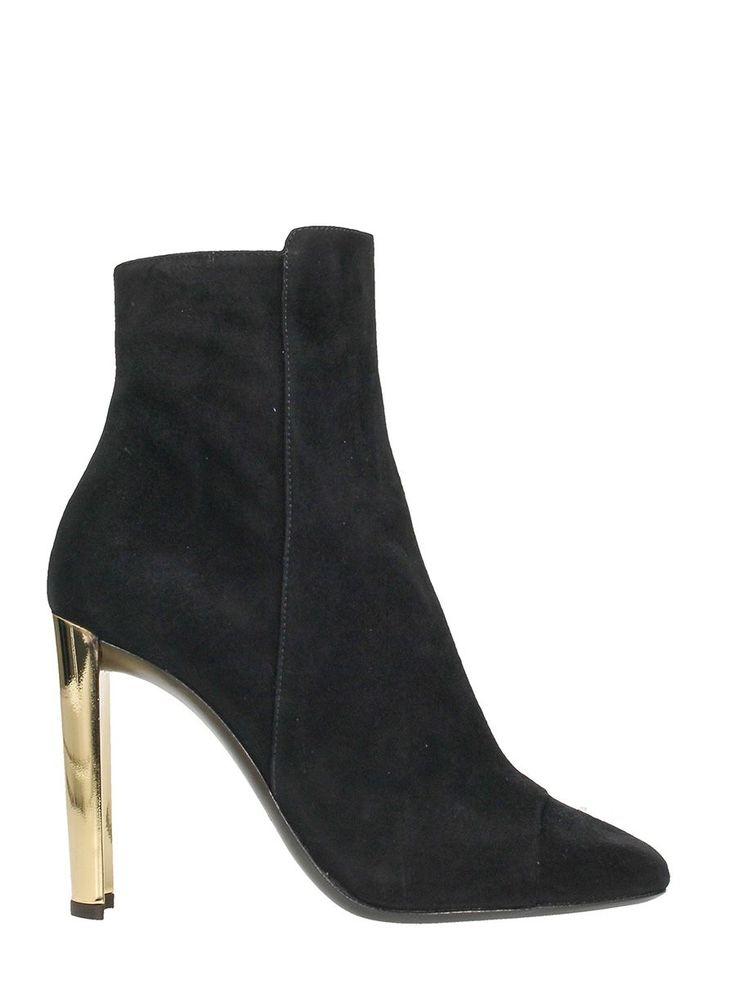 GIUSEPPE ZANOTTI JESSICA BLACK SUEDE ANKLE BOOTS. #giuseppezanotti #shoes #