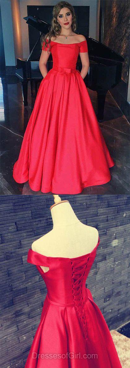 Vintage A-line Off-the-shoulder Satin Floor-length Sashes / Ribbons Short Sleeve Prom Dresses