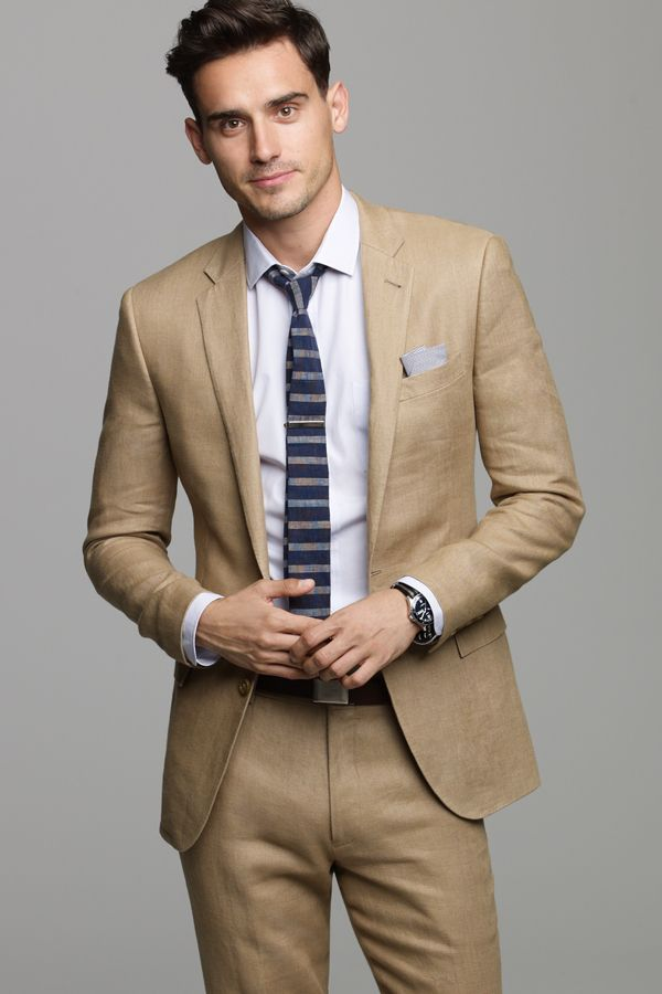 J.Crew's most modern fitting suit in pure Irish linen from Baird McNutt, a family owned mill. Fully lined two- button closure jacket, six-button closure and fully lined vest, and partially lined slim fitting trouser.