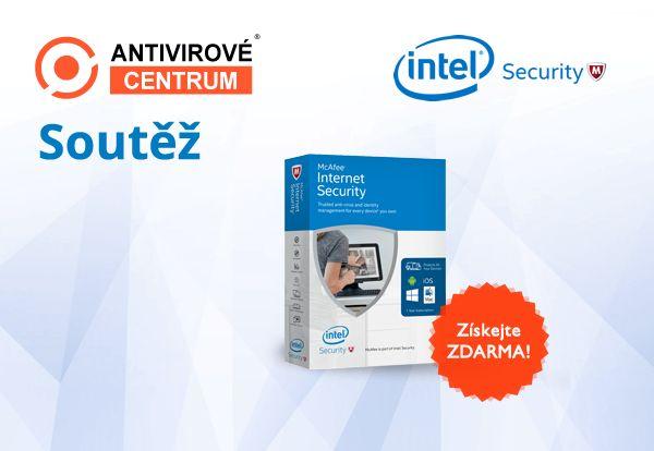 Chcete získat McAfee Internet Security 2017 pro 1 PC na rok zdarma? Zúčastněte se soutěže s magazínem IT Kompas: https://www.antivirovecentrum.cz/aktuality/intel-mcafee-internet-security-zdarma.aspx