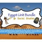 This is a comprehensive bundle for everything you need for your Egypt unit of study!  It includes PPT files WITH graphic organizers, internet research activities and a test with answer key.  I have included a detailed 3 page lesson planner that details approximate days needed for each activity, and the whole bundle is organized and numbered in a way that you can incorporate it into your lesson plans.