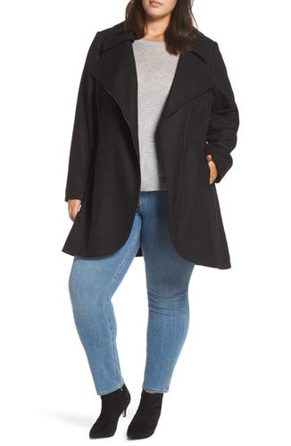 fa35576418971 New Halogen Asymmetrical Zip Wool Blend Coat (Plus Size) online.   229   from top store fgofashion