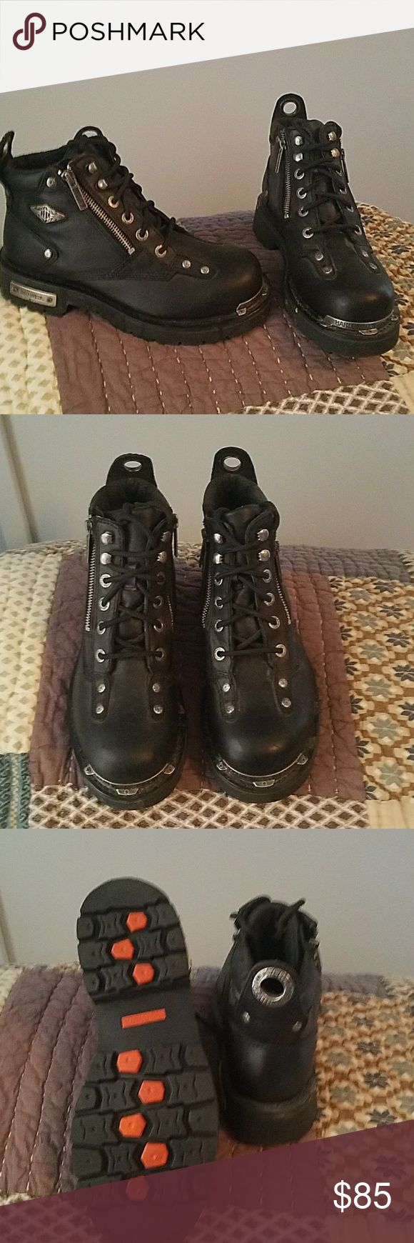 Ladies riding boots Worn once , too heavy for me. Super boots, leather authentic Harley-Davidson Shoes