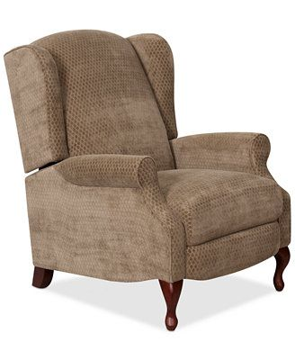 Closeout Edie Fabric Pushback Recliner Recliner