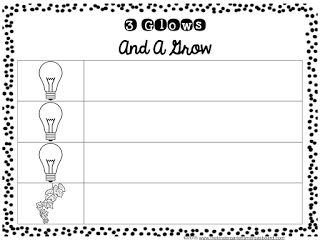3 Glows And A Grow!  Editable form to use during parent teacher conferences!