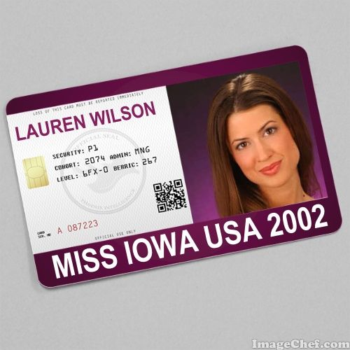 Lauren Wilson Miss Iowa USA 2002 card