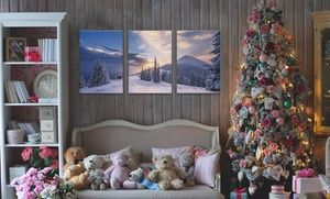 """Groupon - One Custom 36""""x24"""", 48""""x24"""", or 60""""x40"""" Three-Panel Canvas Print from CanvasOnSale Up to ( 89% Off ). Groupon deal price: $39.99"""