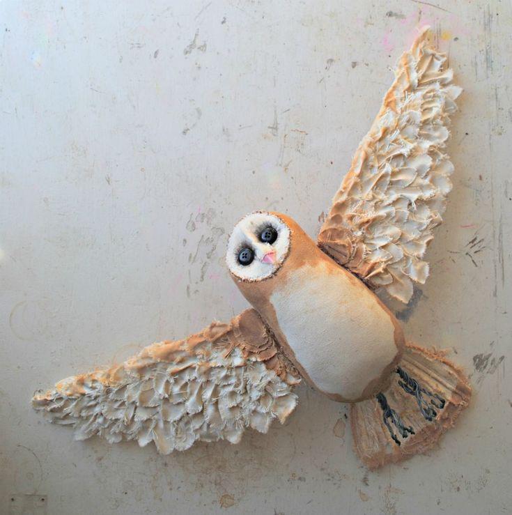 Owl soft sculpture by Mister Finch http://finch-uk.com/