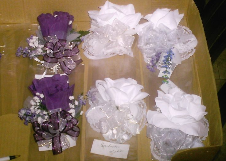 Wrist Corsages made for Lisa