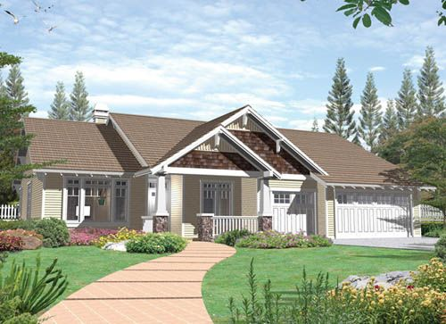 craftsman ranch house the house plan shop