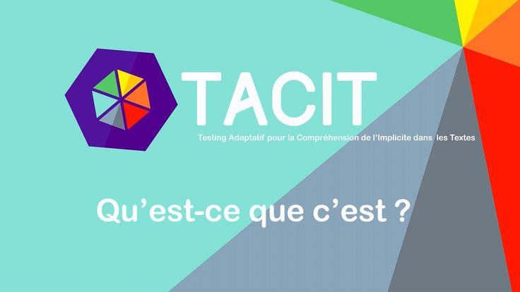 Tacit - Outil d'aide à la compréhension en lecture