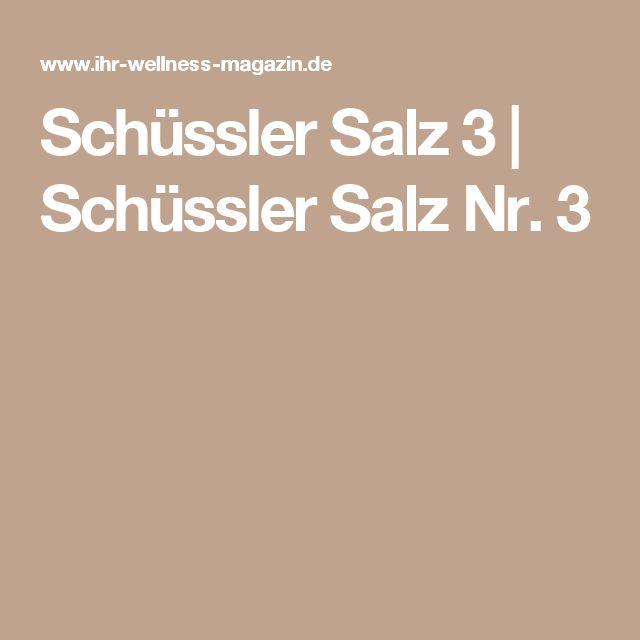 Schüssler Salz 3 | Schüssler Salz Nr. 3
