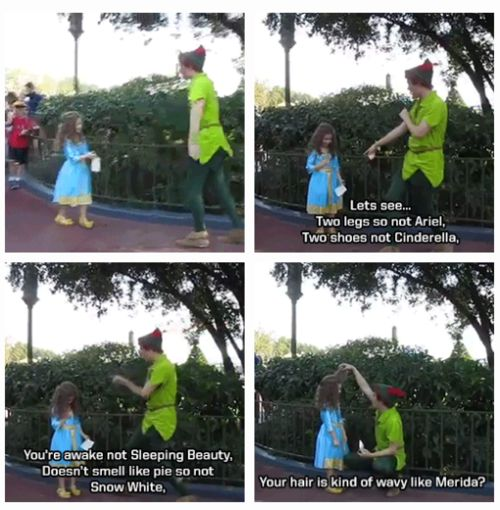 Peter Pan at Disney World ... He is so AWESOME!! [Click for more] Open it, read all the stories, they will open the water works.