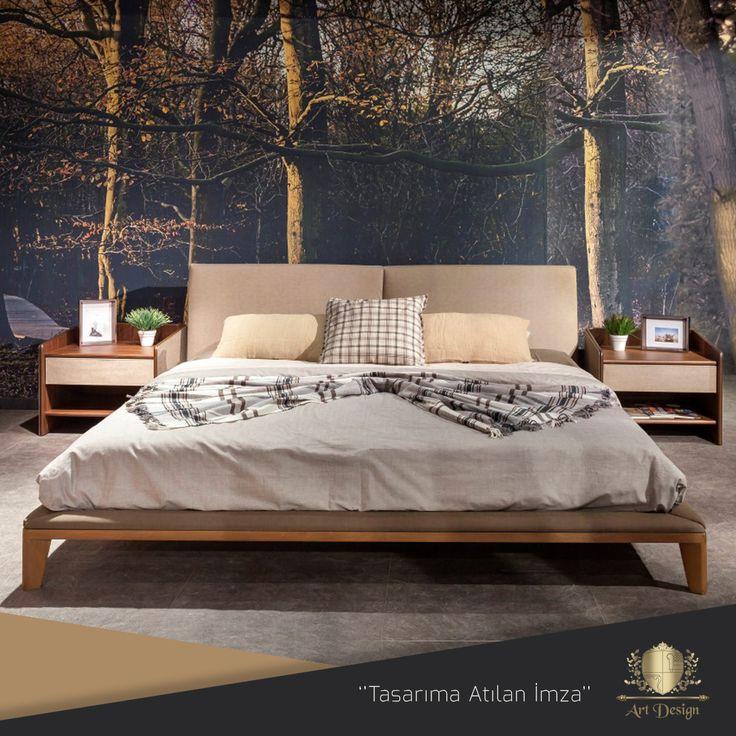 Atlanta Yatak Odası Grubu, Mdf Üzeri Doğal Ceviz Kaplama ve Lake Cila, Kumaş Döşeme. www.artdesign.com.tr  #mobilya #modoko #atlanta #yatakodası #ceviz #ahşap #modern #kumaş #modernmobilya #country #project #lake #furnituredesign #modernart #design #decor #bed #wooden #interior #home #interiordesign #luxuryfurniture #artdesign #decoration #dekorasyon