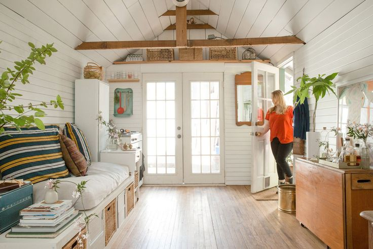 Garage turned into small home via Refinery29    gravityhomeblog.com - instagram - pinterest - bloglovin