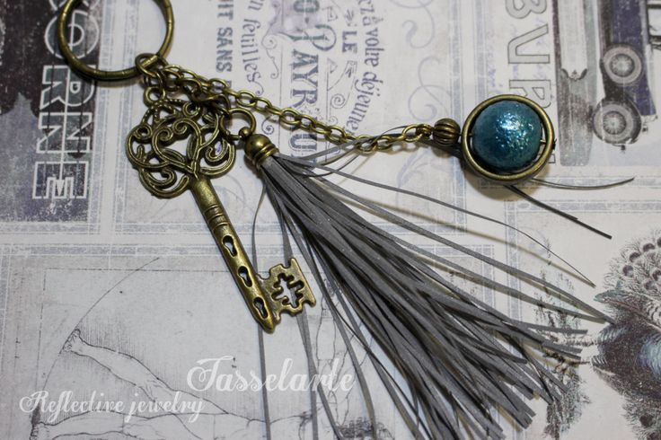 Reflective tassel, life saving handmade pendant charm to a purse, coat, backbag etc by TasselArte on Etsy