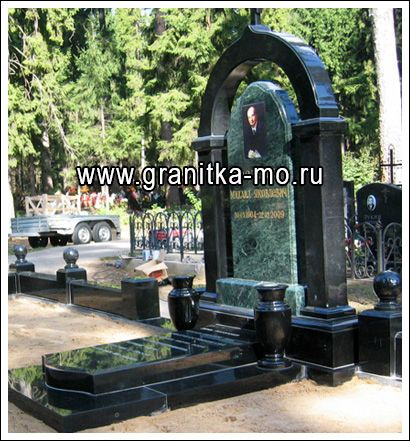 Надгробные памятники из змеевика