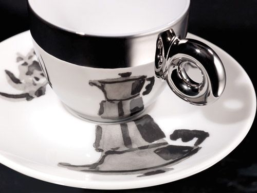 illy Art Collection espresso cups - William Kentridge