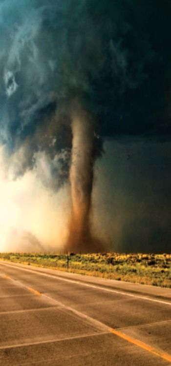 Tornado coming your way ! A great reason for storm cellars on farms.