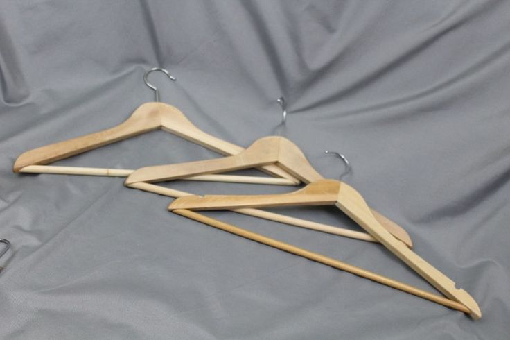 Vintage & Other Variety Wood Clothing Suit Hangers 18 piece LOT #Unbranded