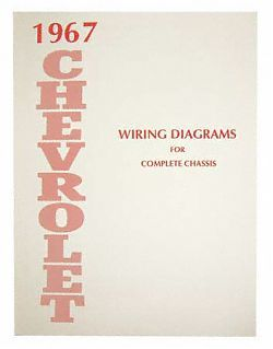 1967 Impala, Chevrolet Passenger Car Wiring Diagram Manual