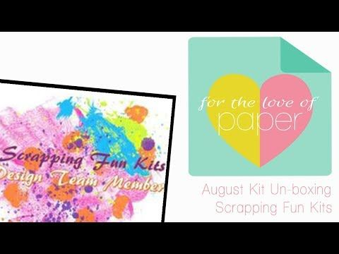 Just in: August Scrapping fun kits un-boxing https://youtube.com/watch?v=oGf8xJ9DFII