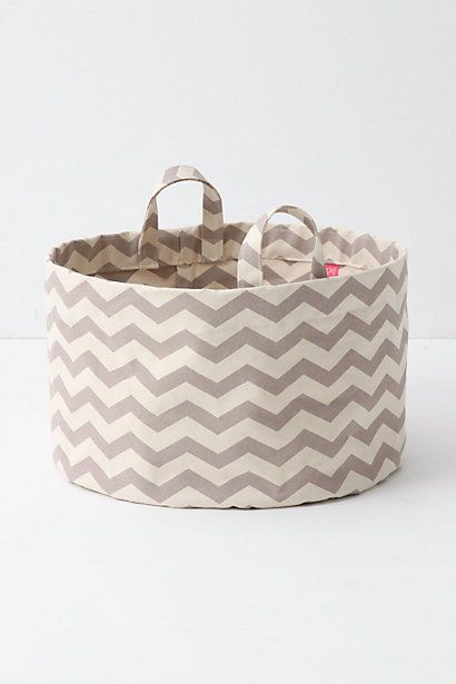 """These chevron totes from Anthropologie would also make good toy """"boxes"""""""