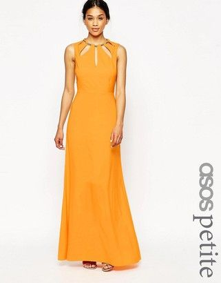 ASOS Petite ASOS PETITE Keyhole Multi Gold Bar Maxi Dress - Shop for women's Dress - Orange
