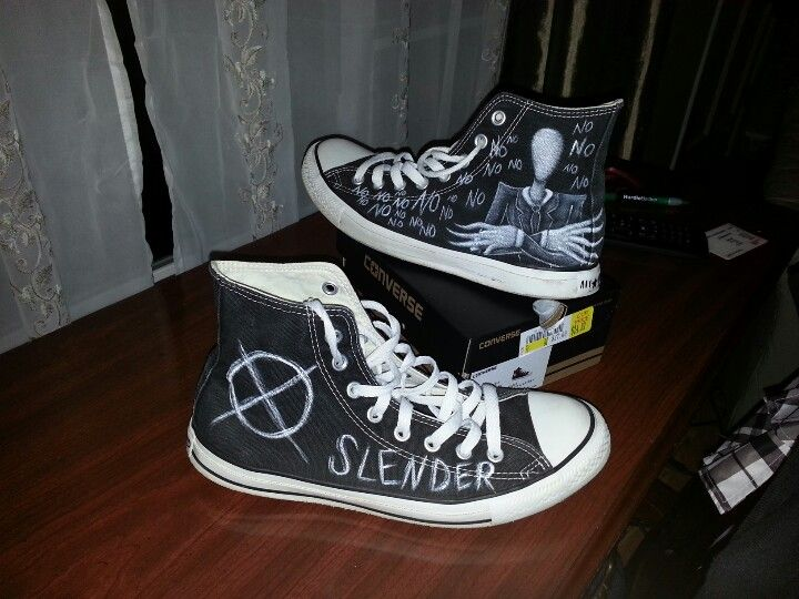 Shut Up And Take My Money >> Slenderman Converse | OriginalCyn Creations | Pinterest ...